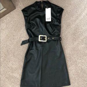 (NWT) Zara leather dress